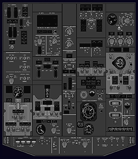 B737 NG Forward Overhead Panel