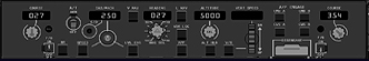 B737NG Glareshield - Mode Control Panel